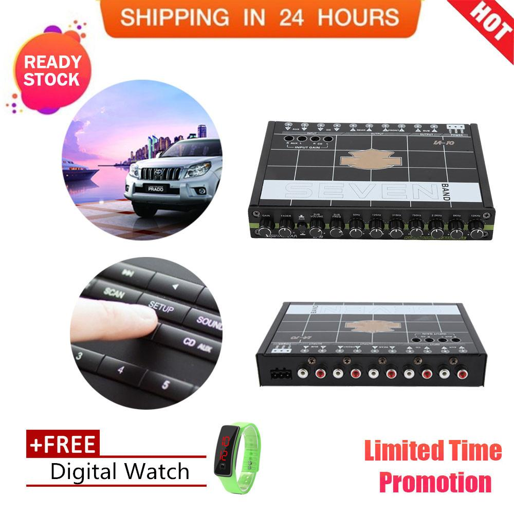 【Free gift】1pc Car Automobile Audio Stereo EQ Equalizer with 7 Band