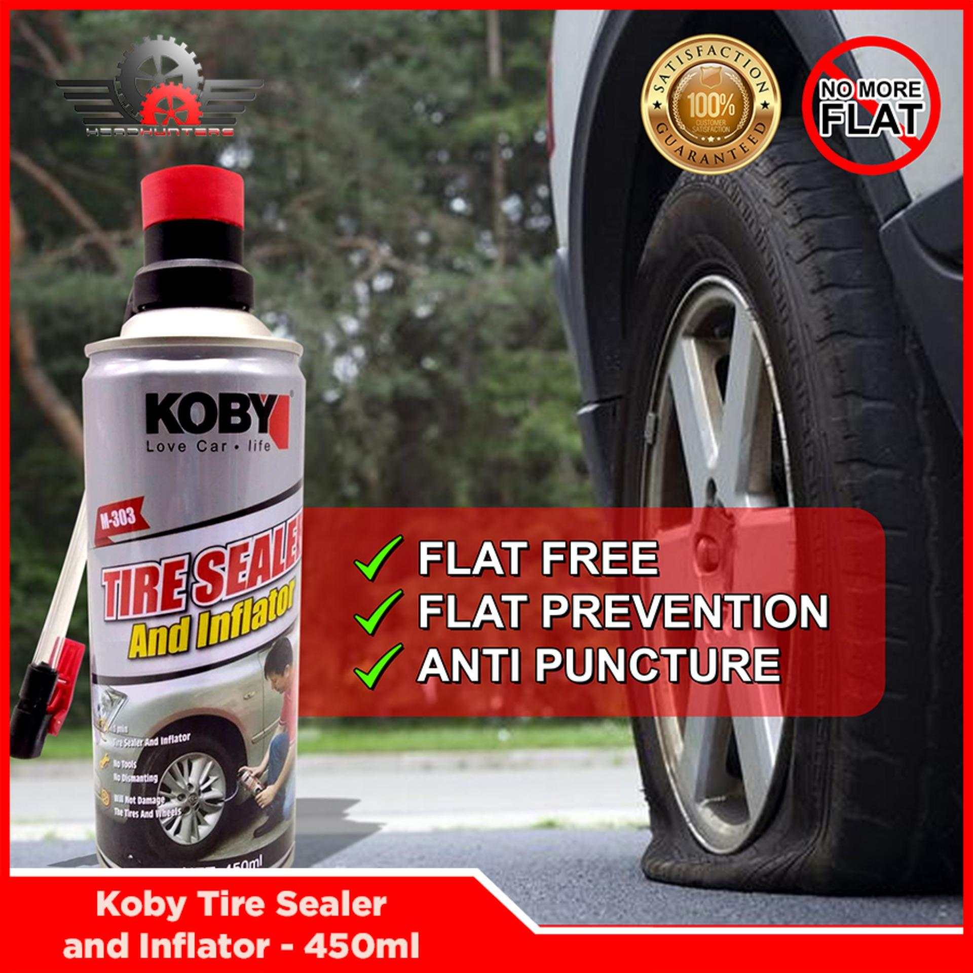 Koby Tire Sealer And Inflator - 450ml By Head Hunters.