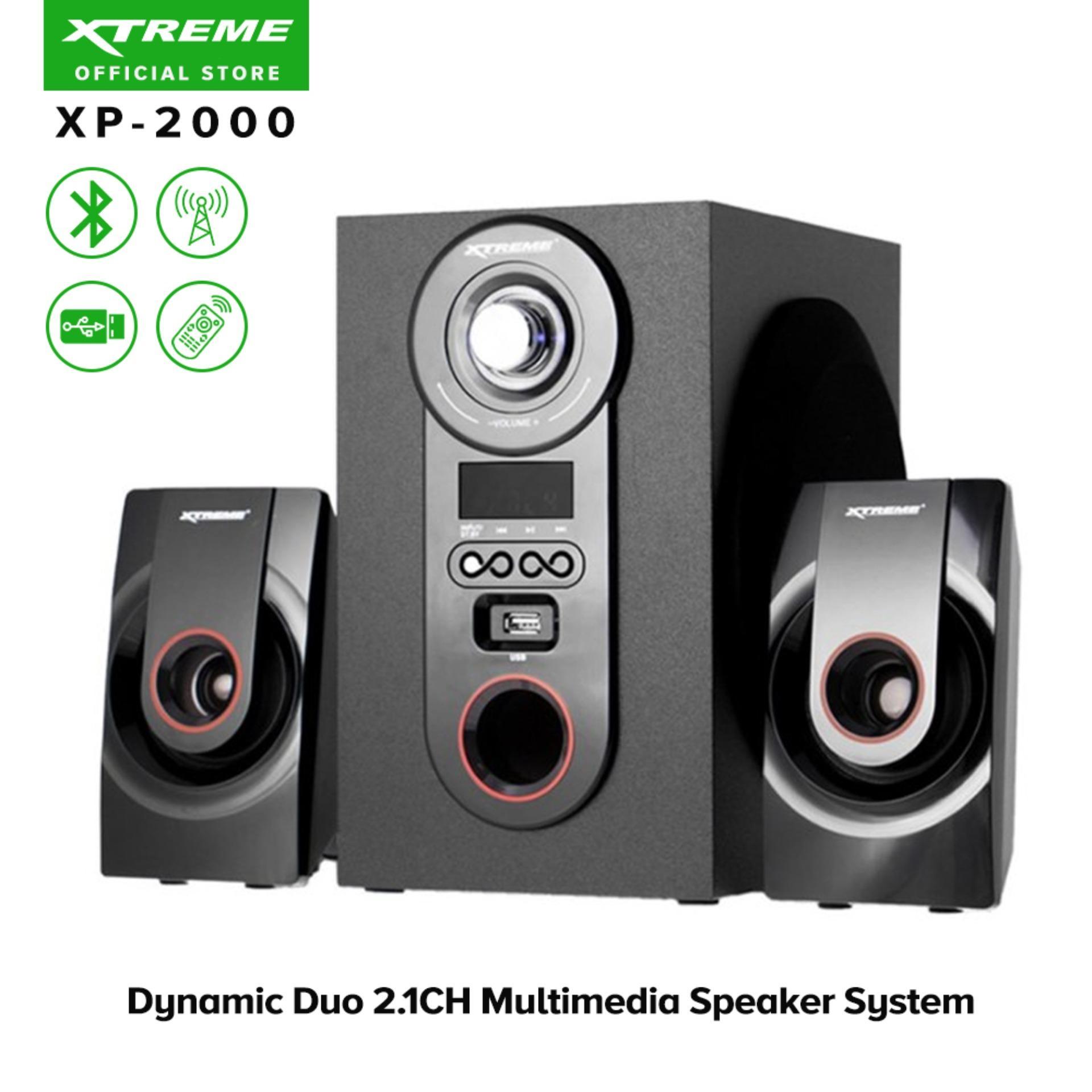 XTREME XP-2000 Dynamic Duo 2 1CH Multimedia Speaker System (Black)