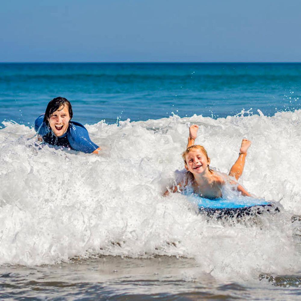 Mã Coupon DỄ TÍNH Bơm Hơi Lướt Ván Nổi Thoát Nước Trên Bơm Hơi Nổi Giường Bé Đồ Chơi Trẻ Em Bơm Hơi Ván Lướt Sóng