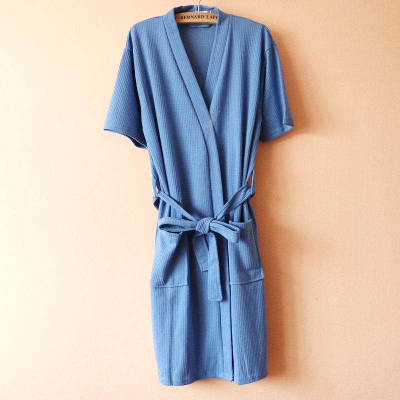 Hotel SPA Sauna Beauty Salon Hot Springs Waffle Cotton Kimono Lace-up Men  And Women s 68fe33314