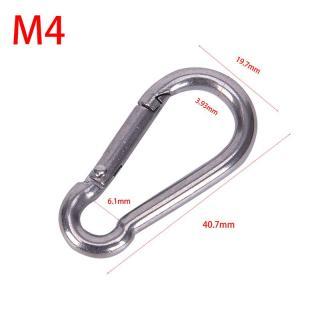 Gia Đình 1 Cái 304 Thép Không Gỉ Lò Xo Carabiner Snap Hook Keychain Liên Kết Nhanh Khóa Khóa thumbnail