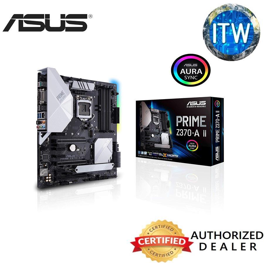 ASUS Prime Z370-A II (Intel 9th Gen) DDR4 DP HDMI DVI M 2 USB 3 1 Z370 II  ATX Motherboard Gigabit LAN and USB 3 1