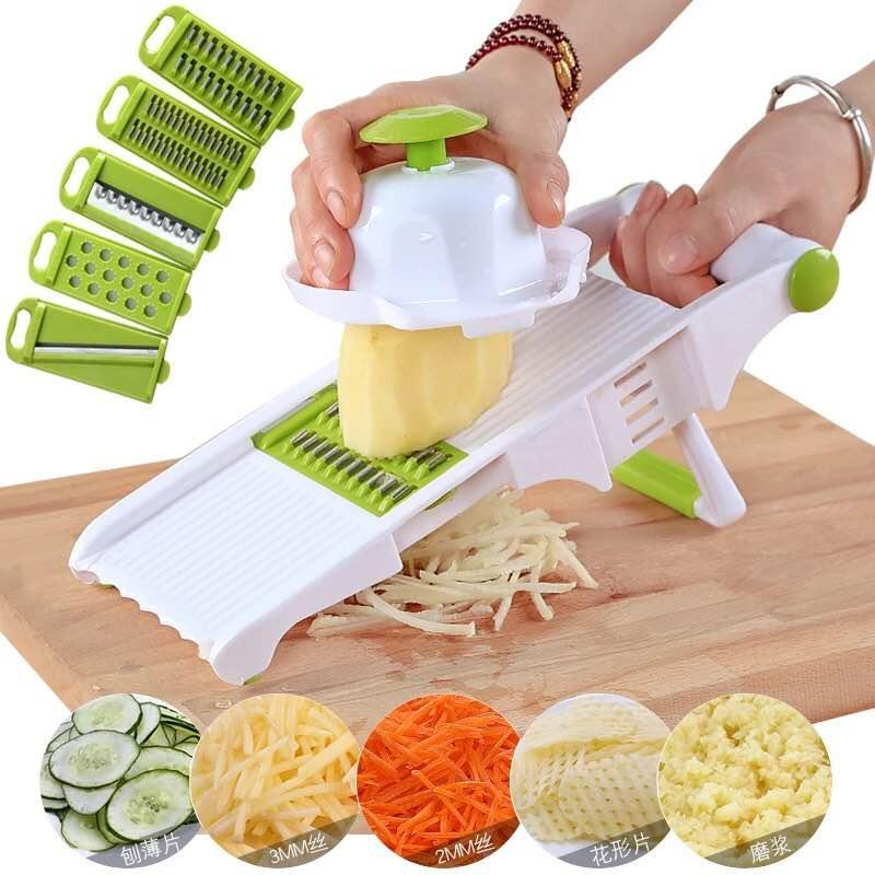 Fashionline Upgraded Version 5 In 1 Vegetable Fruit Adjustable Cutter Multifunction Slicer By Fashionline.