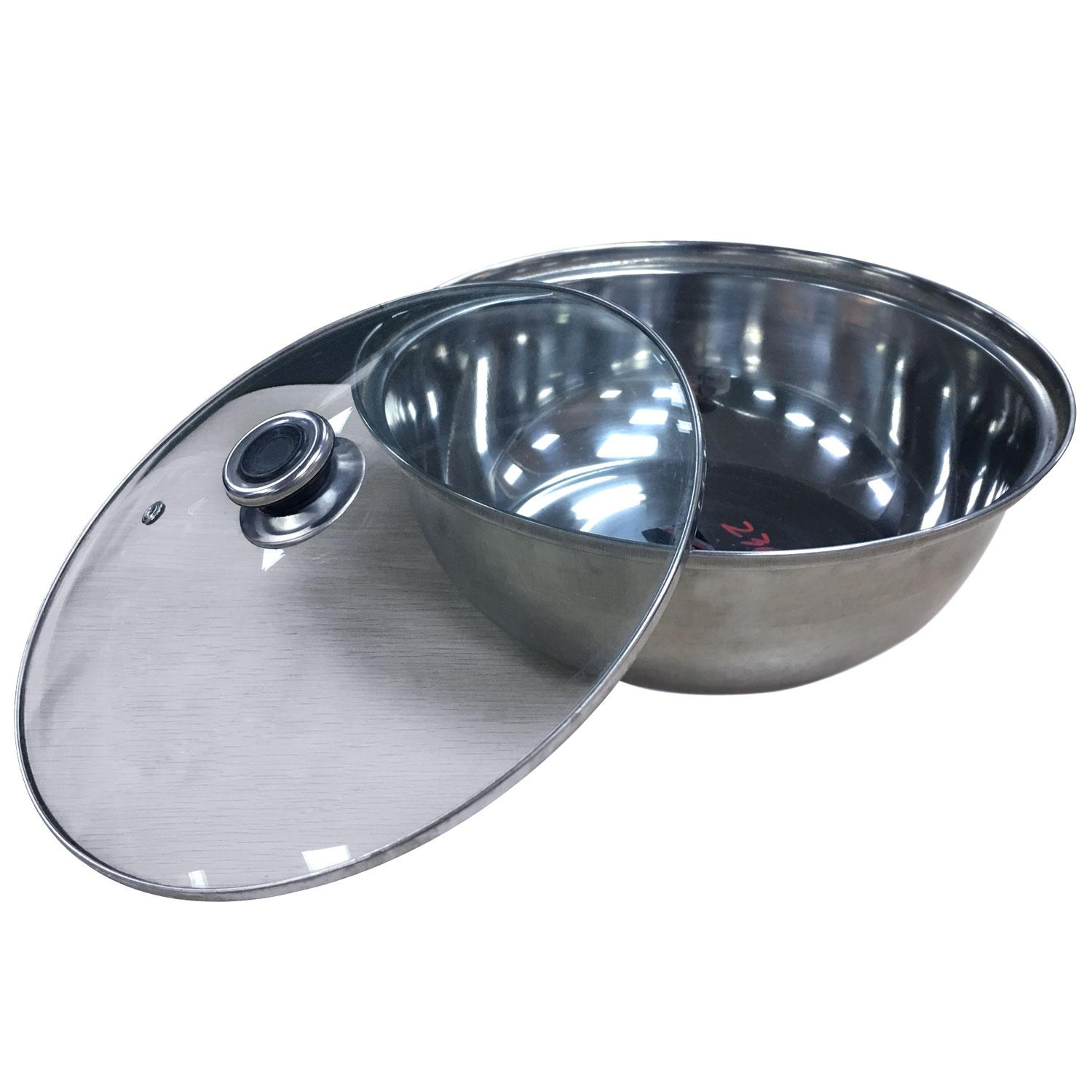 Food Warmer Tray W/ Glass Cover (27cm Round) - 81128 By Homedeliveryph.
