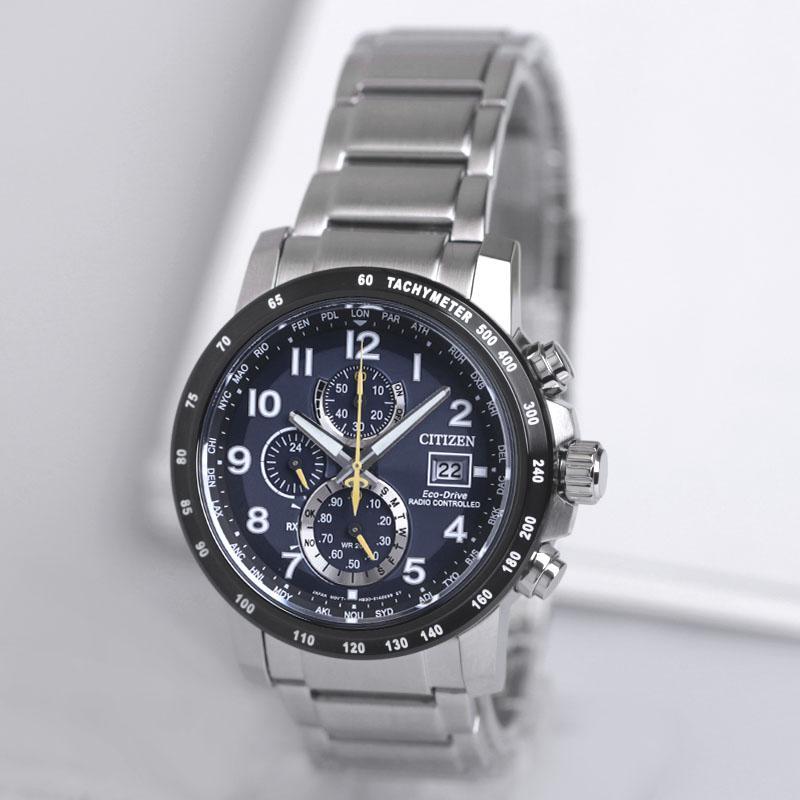 5fdef34ef Citizen Eco-Drive Radio Wave SAPPHIRE Fashion & Sports Timing Steel Belt Men's  watch watches