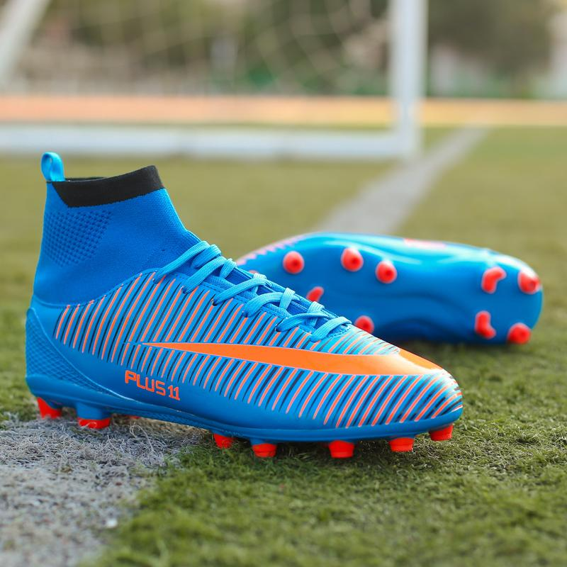 5d7d1d3be0e8 Football Boots Men Good Quality Soccer Shoes 4Colors New Fashion Star s  Style High Heel Long Nail