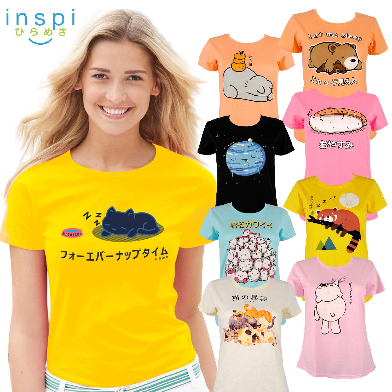 2f0412455 INSPI Tees Ladies Nap Collection tshirt printed graphic tee Ladies t shirt  shirts women tshirts for