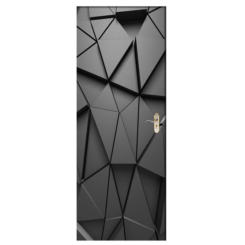 Door Stickers Diy 3D Mural For Living Room Bedroom Home Decor Poster Pvc Self Adhesive Waterproof Creative Door Sticker Decals
