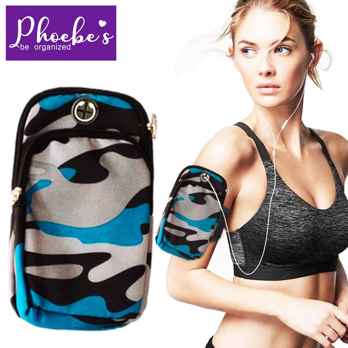 9d577695f56d Phoebes Camouflage Multipurpose Sports Adjustable Water resistant Armband  use for Fitness Jogging Hiking Cycling Exercise Gym Outdoor Sports  Cellphone ...