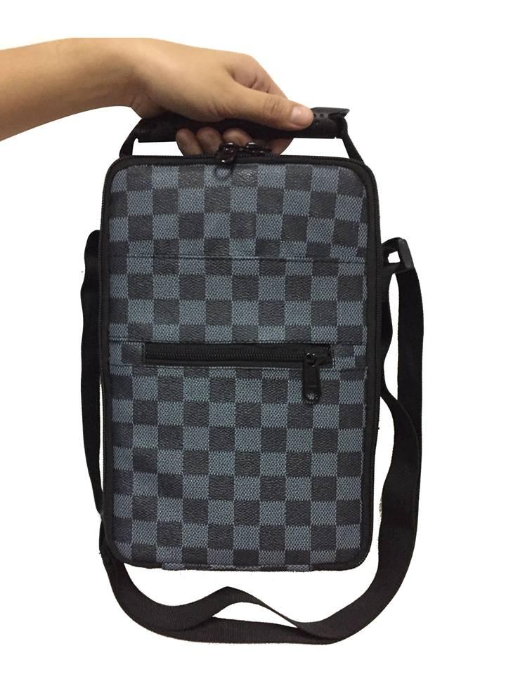 Gaffers Bag 36 Tari Capacity Sling Case With Fiber Glass For Gaffing (checkered Blue Grey) By Jkd.