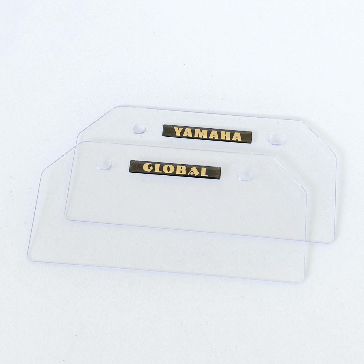 Universal Clear Plate 05 (2pcs) By Lvsp Motor Supply.