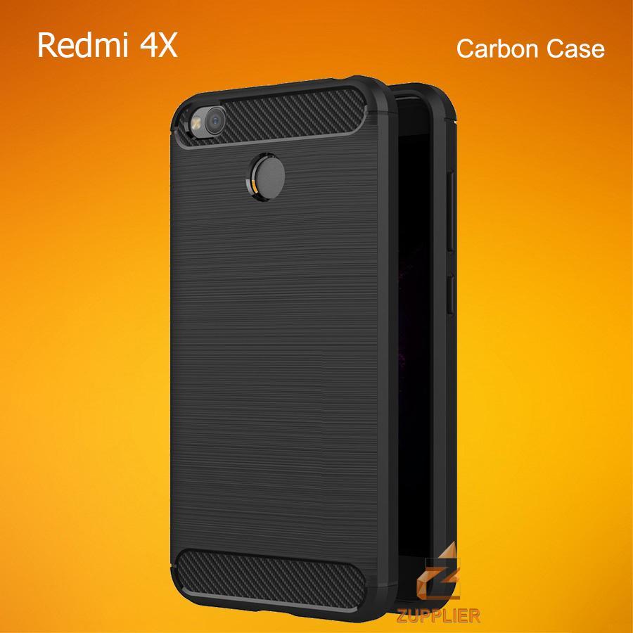 Xiaomi Redmi 4X Case Carbon Fiber Brushed Soft TPU Shock Proof Tough Rugged Slim Armor Back