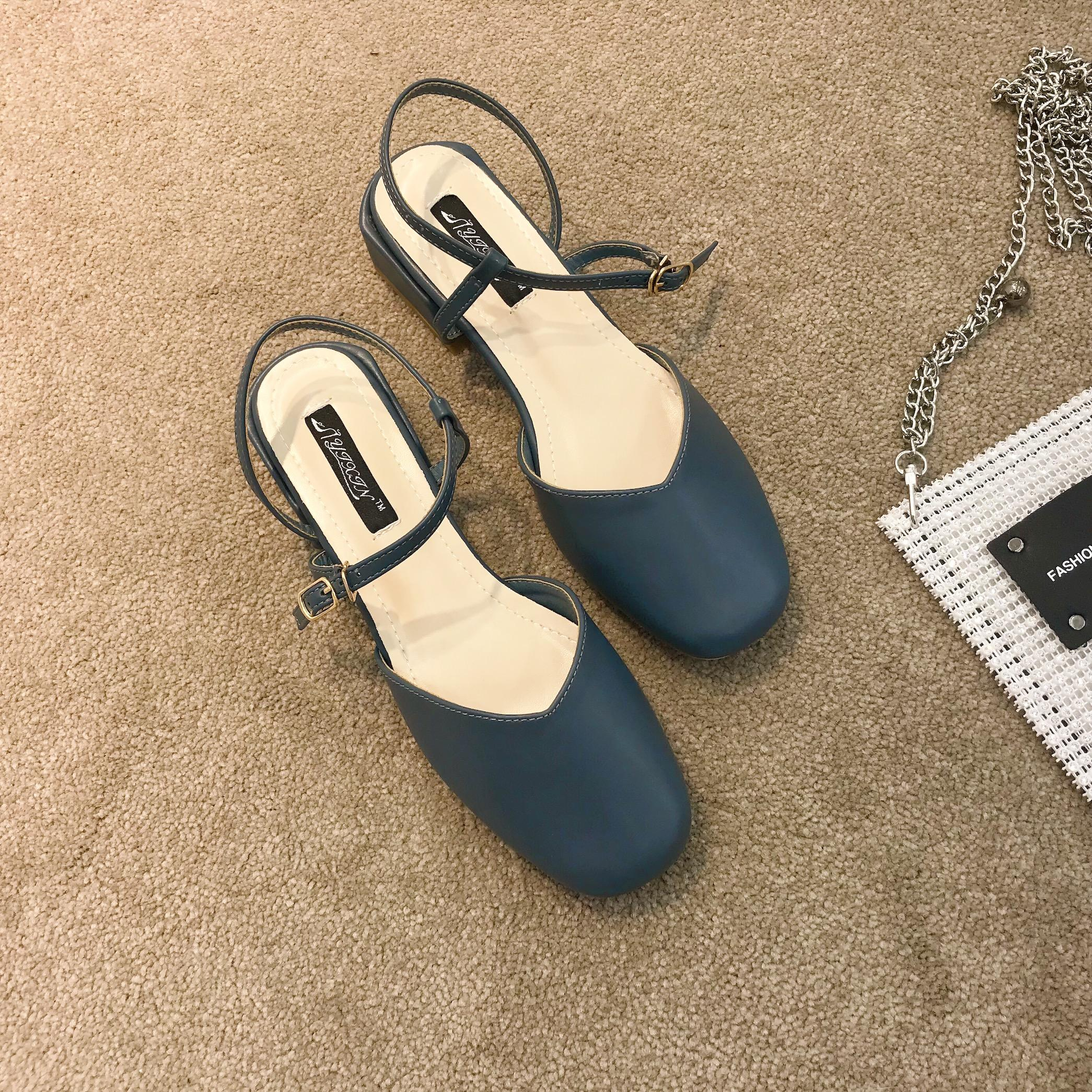 329d4a6f270 High-heeled Sandals women 2019 New Style Summer Closed-toe A-line with