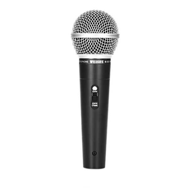 WEISRE M-58 Metal Dynamic Coil Wired Microphone,for Laka OK Trolley Sound Stage Teaching Microphone