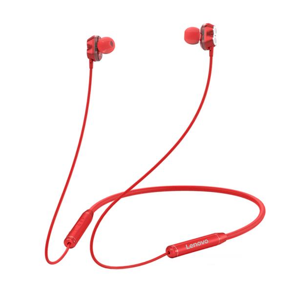 Tai nghe không dây dây đeo cổ Lenovo HE08 BT 5.0 w / Dual Dynamic + 4 loa / Giảm tiếng ồn HiFi Stereo Tai nghe thể thao chống nước Tai nghe từ tính có mic Tương thích với iOS / Android