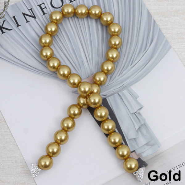 exix Creative Window Strap Holder Faux Pearl Magnet Buckle Curtain Tieback Clip Accessories Modern Simple Elegant Stylish