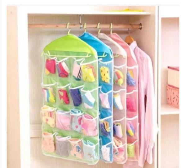 16 Grids Wardrobe Hanging Bras Socks Shoe Toys Organizer