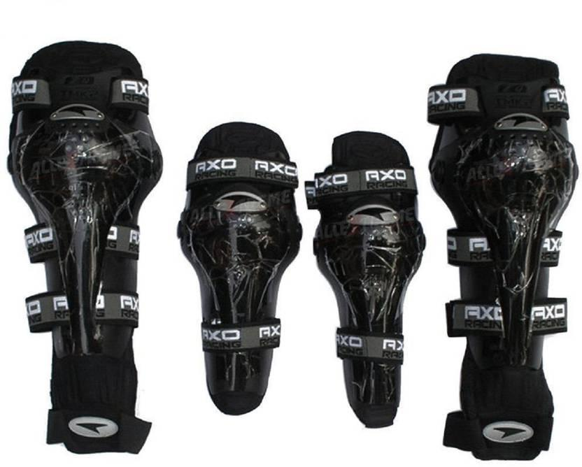 Axo Motorcycle Racing Riding Knee & Elbow Guard Pads protector Gear(BLACK) image
