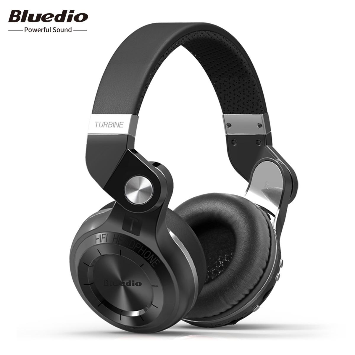 bbc56e3c880 Bluedio T2+ Bluetooth Headphone Bluetooth 5.0 On- hear Headphone Support  Cloud Service SD Card Line