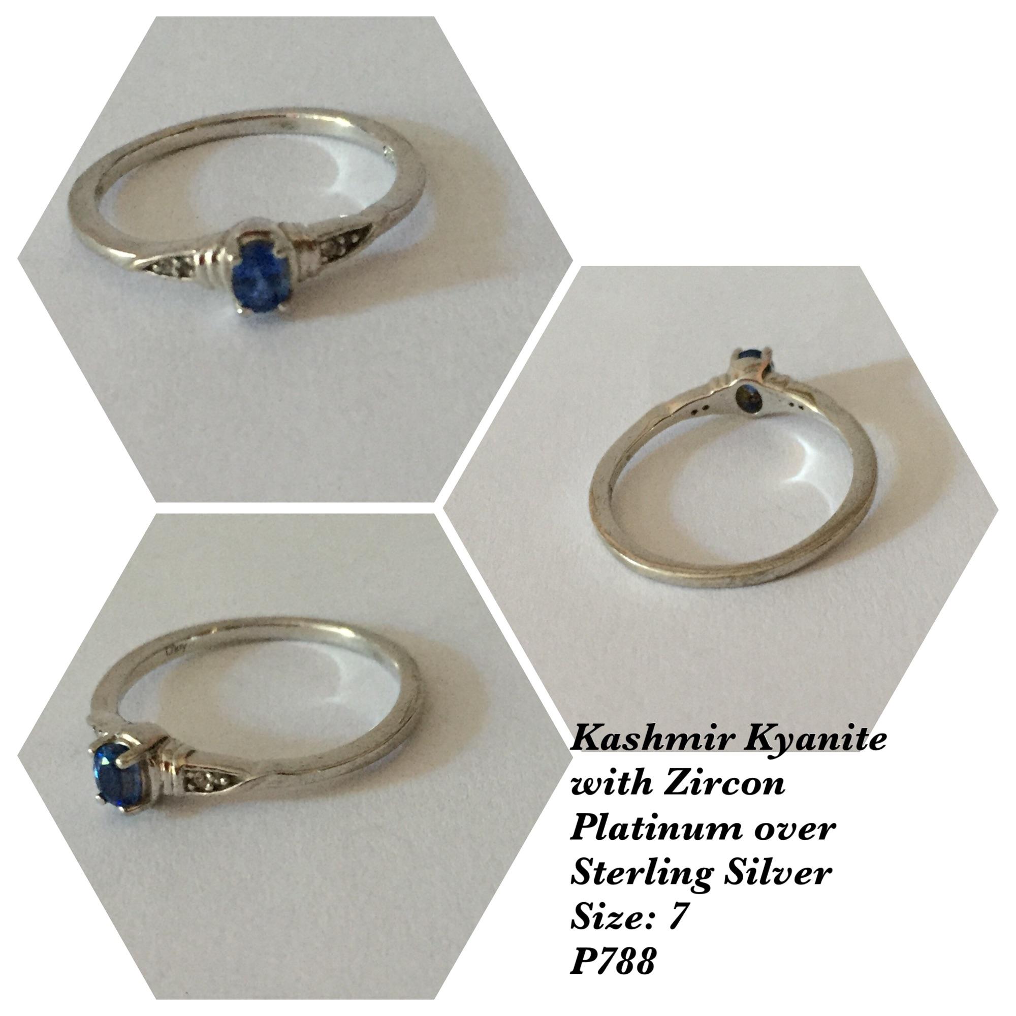 Kyanite Stainless Steel Earrings and Ring sz 7