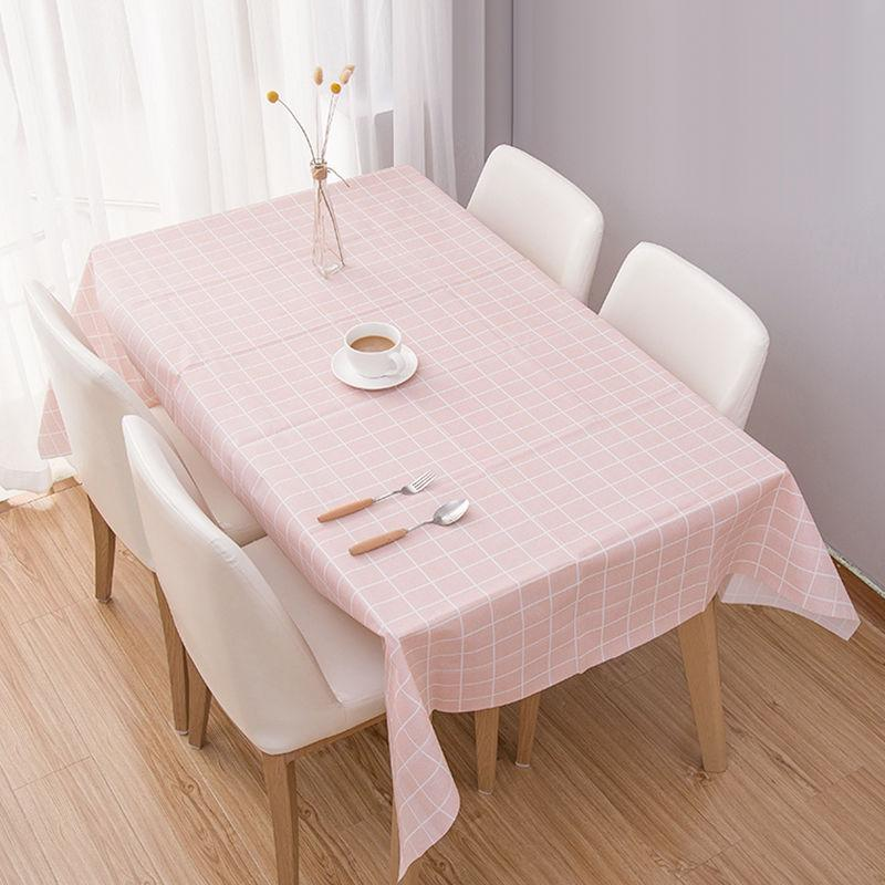 37bf92d389 Rising Star 137*90CM Pastoral Style Cotton Canvas Table Cloth Plaid  Dustproof Rectangle Table Cover