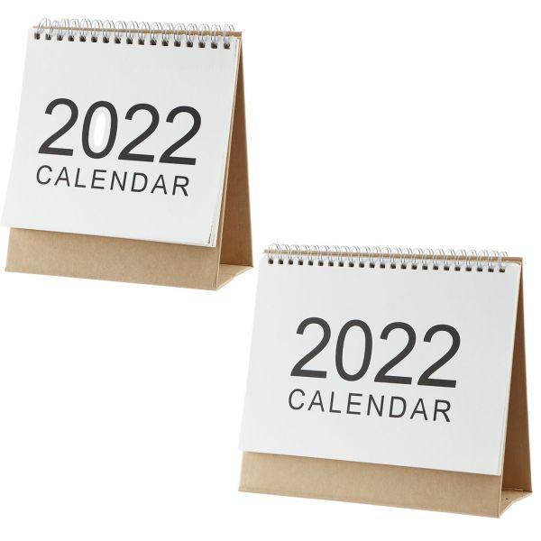GOTORADE 2PCS Văn phòng Đa chức năng Người lập kế hoạch Vẽ bằng tay Người tổ chức chương trình nghị sự Lịch giấy để bàn Người lập kế hoạch Trang trí nội thất
