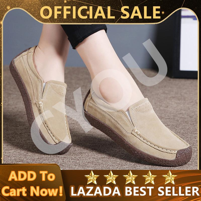 3604436168b723 CYOU Women Oxfords Shoes Ballerina Flats Shoes Women Genuine Leather Lace Up  boat Shoes Moccasins Loafers