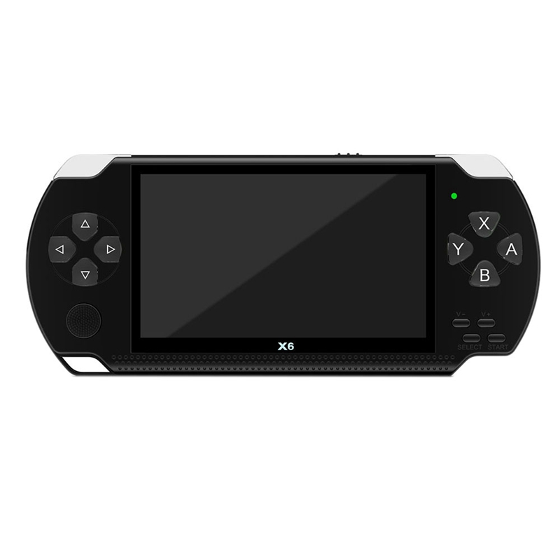 X6 4.3 Inch Handheld Game Console Player 10000 Games 32bit 8gb Support For Psp Game/video/e-Book(black).