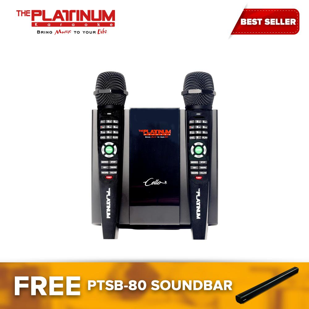 The Platinum Cello with over 17,+++ English and Opm songs with free  soundbar