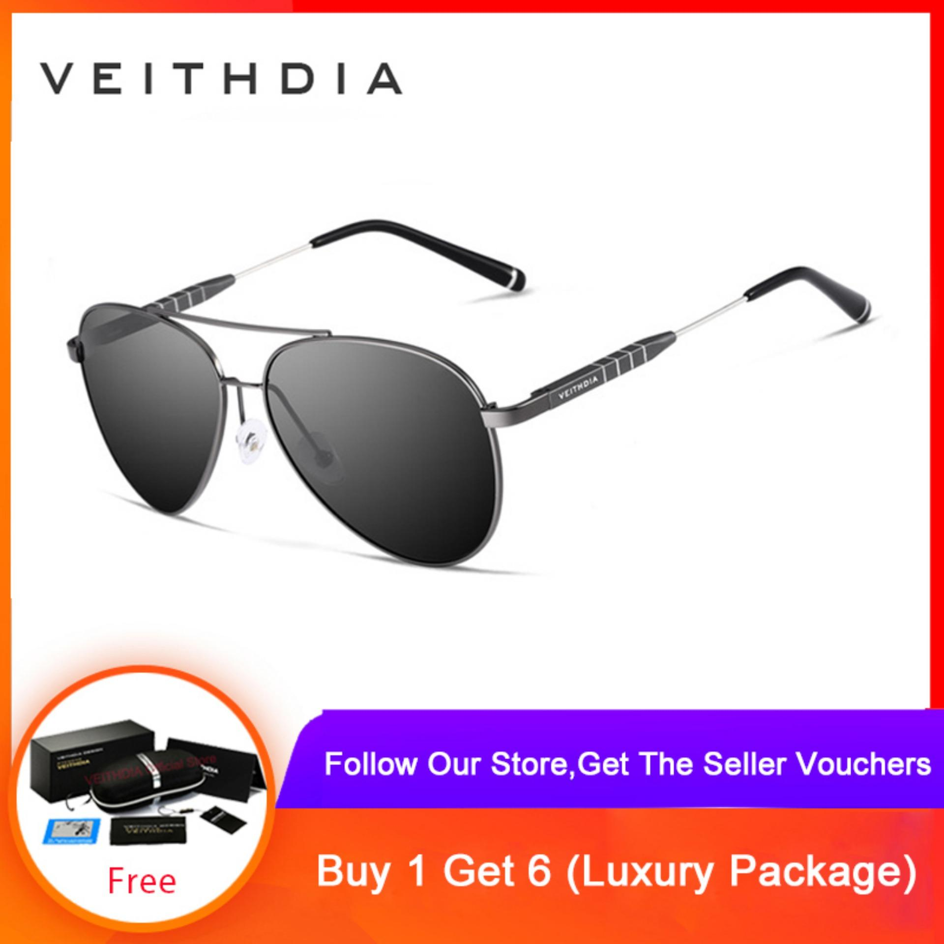 0b2ab4d8f26a1 VEITHDIA Fashion Unisex Aluminum Men Sun Glasses Polarized Mirror Lens Male Eyewear  Sunglasses For Women Men