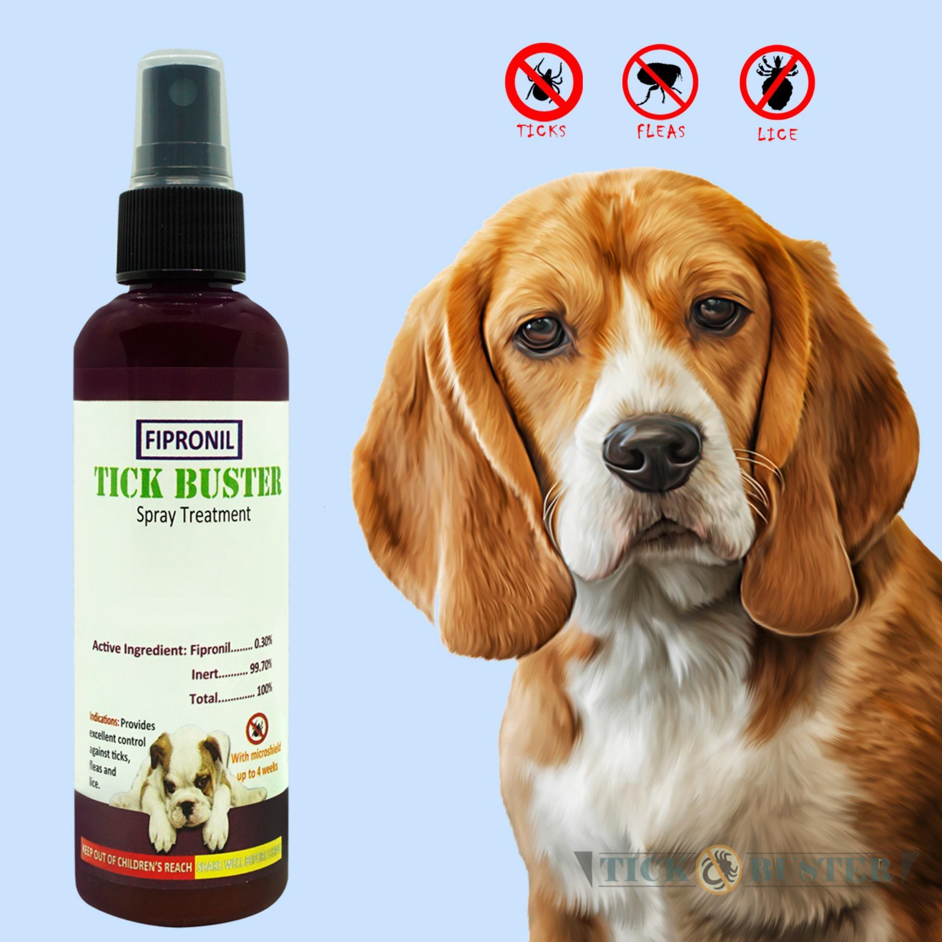 Tick Buster Anti-Ticks Fipronil Pet Spray Treatment 100ml By Tickbuster2.0.