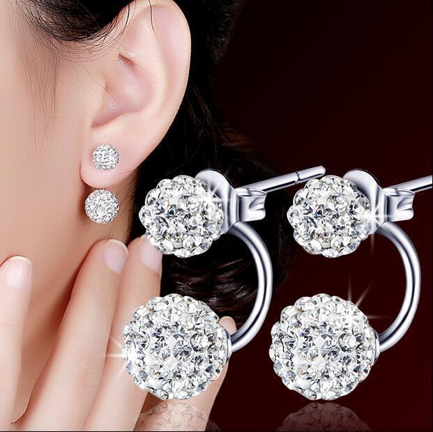 560462b2a bf Korean-style Cool Elegant 925 Sterling Silver Earrings Jewellery Women  Fashion Jewellery Earrings#