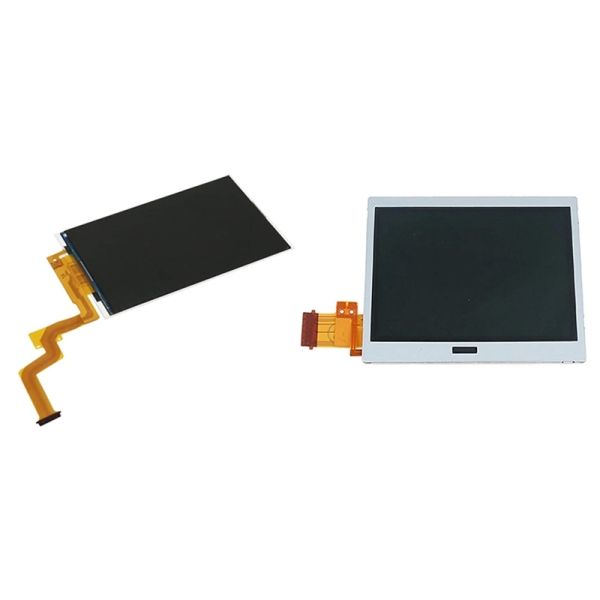 Replacement Top Screen for Nintendo 2DS XL/ LL with Bottom LCD Display Screen Repair Fix Part, for DSL DS Lite NDSL