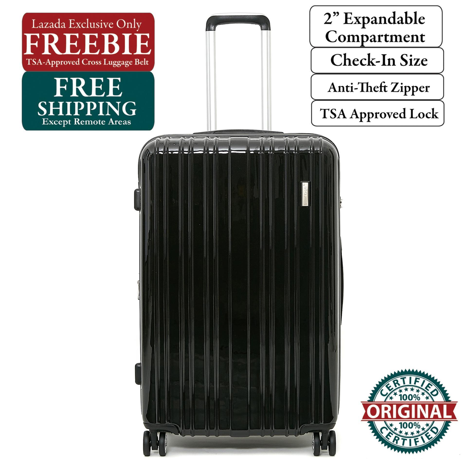 ec1a55023 British Knight BSQ601ZTE Black Large (28 Inch) Expandable Luggage with TSA  Lock, Anti