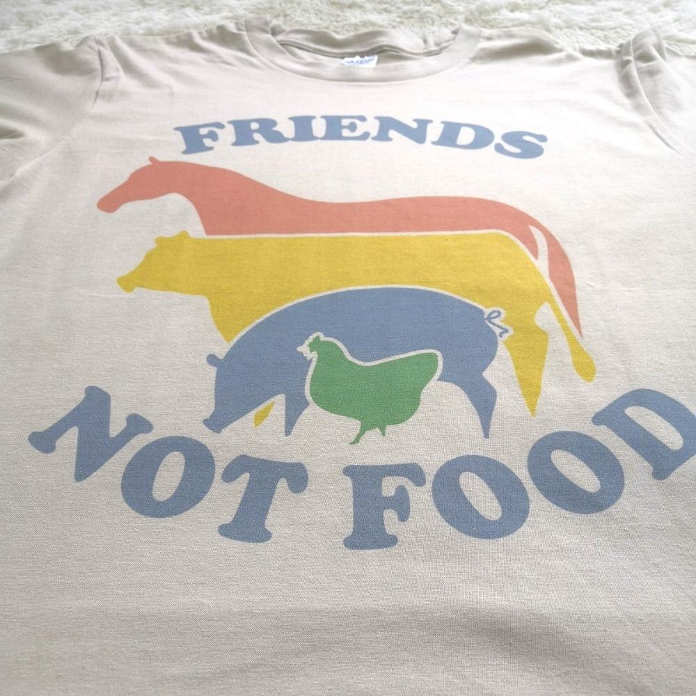 3ceefc970 Kawaii Animals Printed Women T Shirts Friends Not Food Graphic Vintage  Tshirt Tee Shirt Vegetarian Natural Tumblr Tops Hippie   Lazada PH