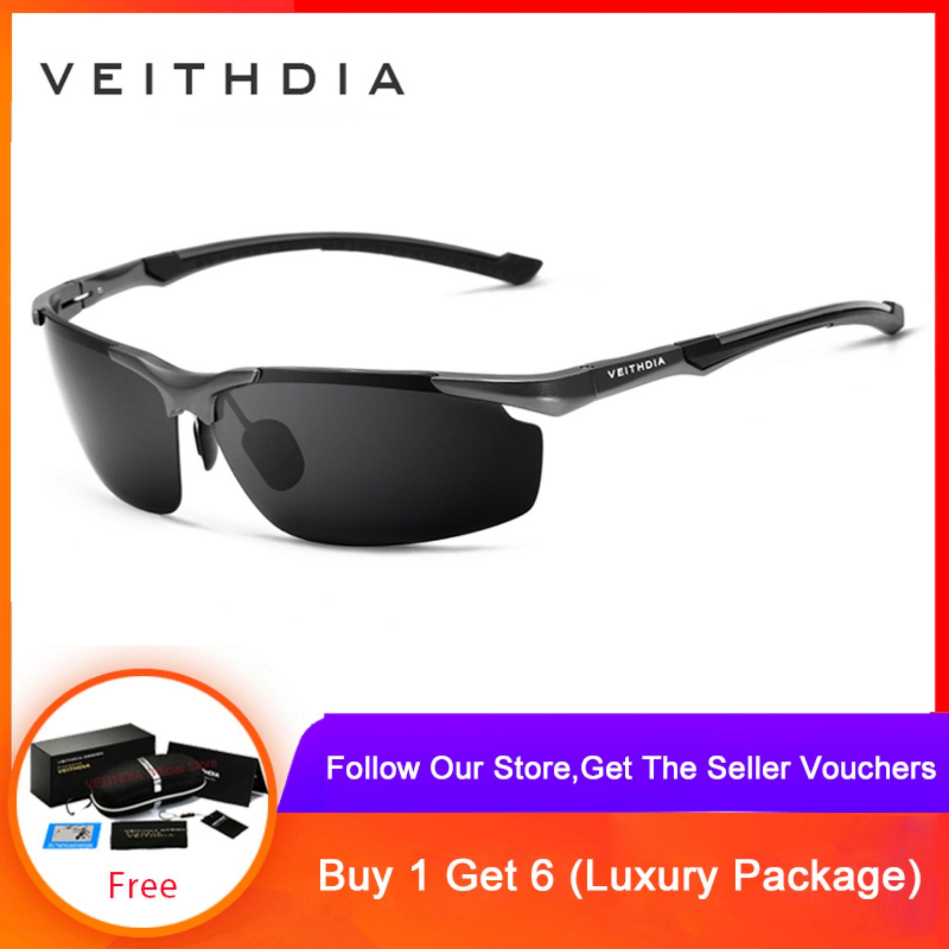 VEITHDIA Men's Aluminum Magnesium SunGlasses HD Polarized Glasses Male Eyewear Sunglasses For Men 6592