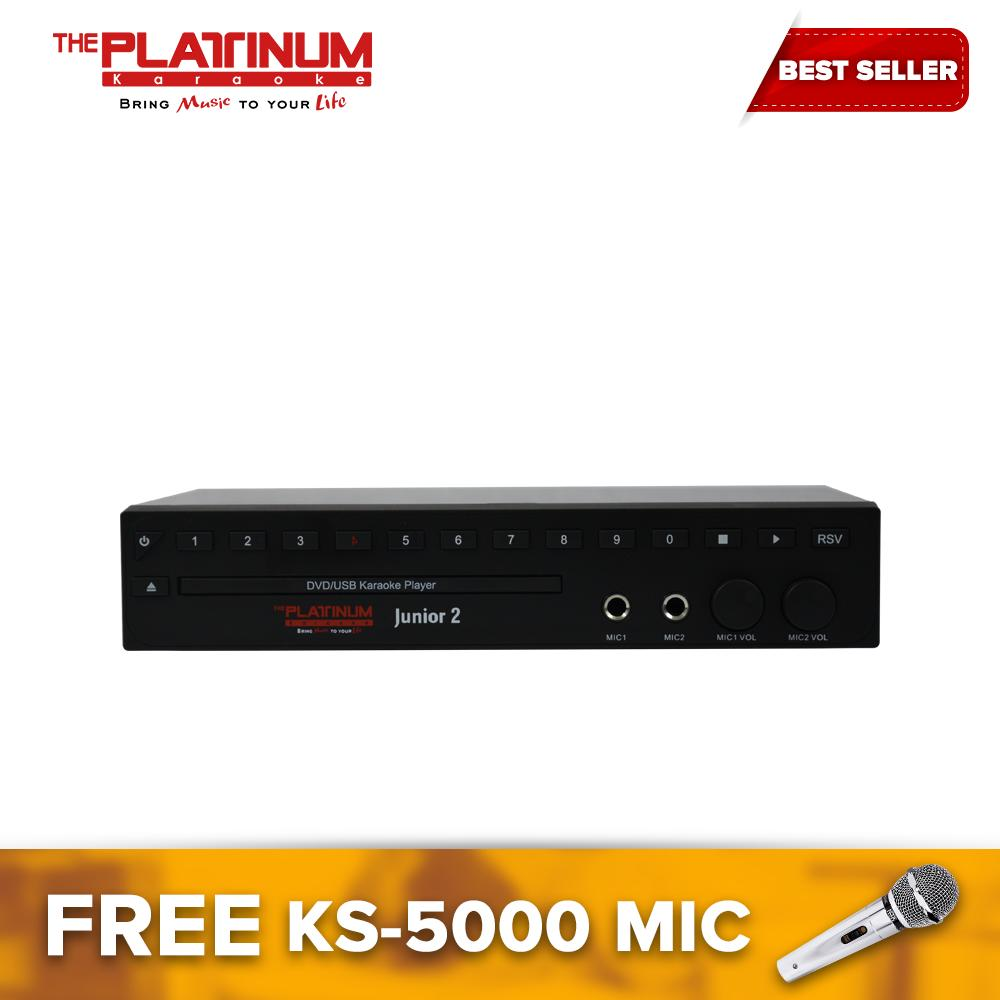The Platinum KS-10 Plus Junior 2 Karaoke Player with 14,960 songs / free  KS-5000 wired microphone