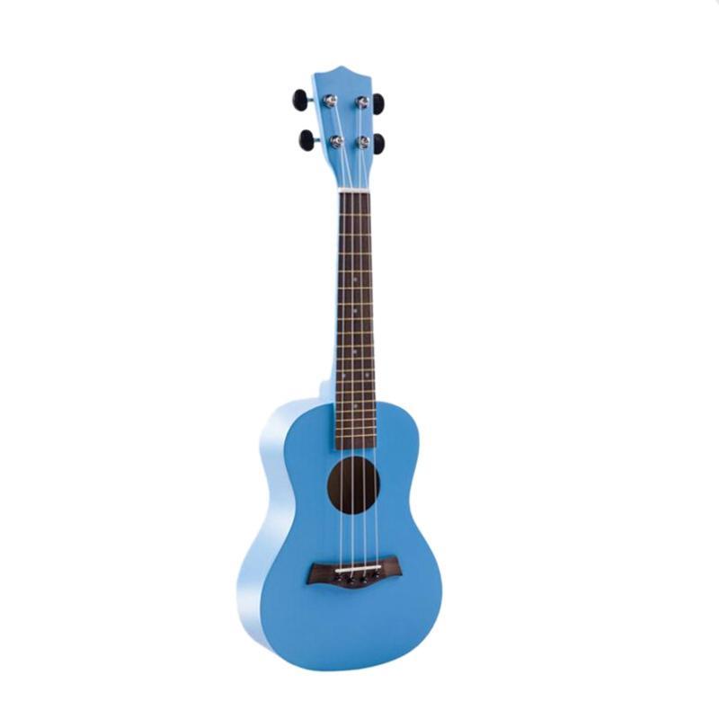 23 Inch Wooden Soprano Ukulele Beginner Hawaii 4-String Guitar Ukelele + String + Pick Suitable for Both Beginners and Children
