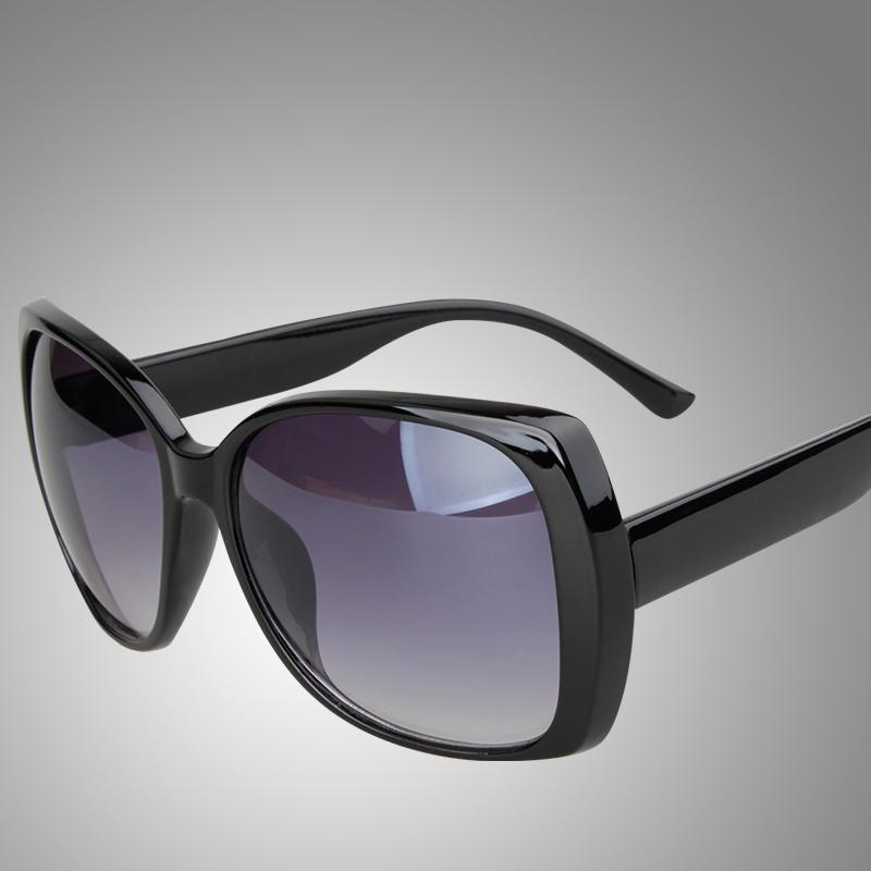 Wanita kacamata hitam kacamata hitam wanita Gaya Korea perlindungan UV modis bingkai besar orang trendi wajah bulat SUN kacamata wanita