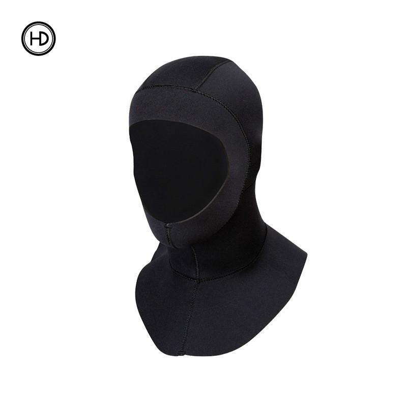 19a600a64f2 3mm Neoprene Scuba Snorkeling Diving Hoods Cap Hat Head Cover Bibbed long  to Shoulder Diver Wetsuit