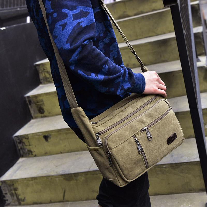 2857bd9712df Korea Messenger Bag Sling Shoulder Crossbody Men Bag Handbag Men Casual  Business Fashion Bag shoulder men casual canvas messenger bag brands