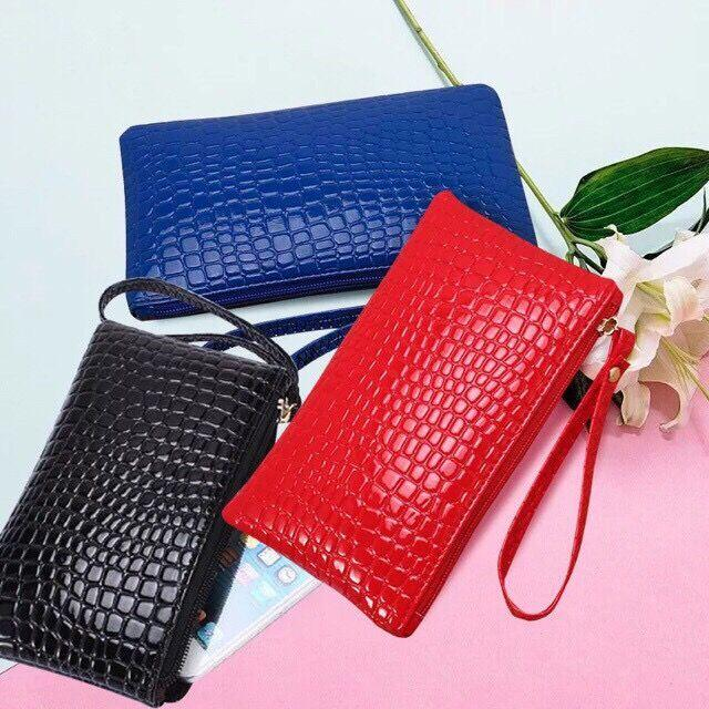 3f71eaf062d Arturo Fashion Crocodile Leather Clutch Handbag Bag Coin Purse Wallet Phone  Card Holder
