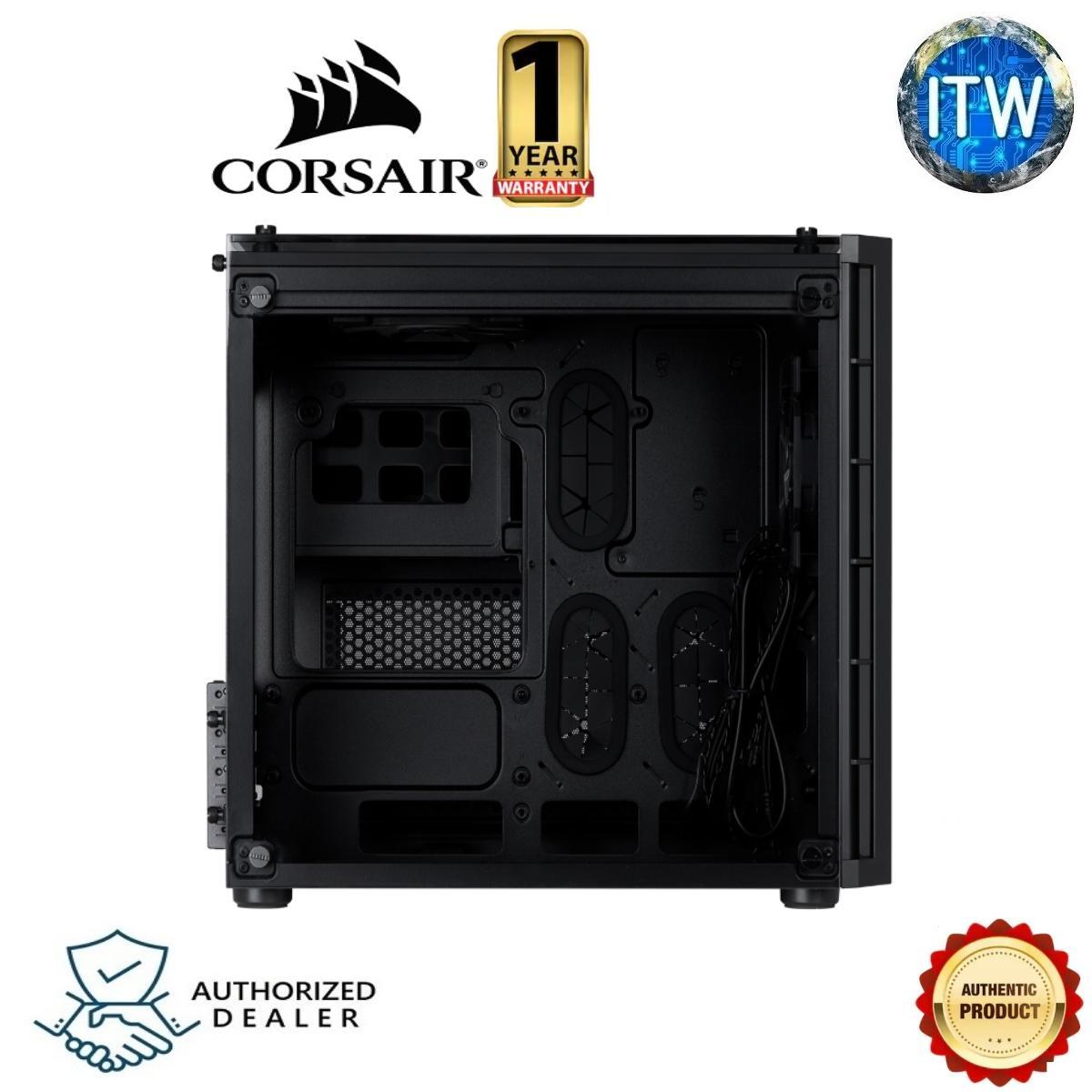 CORSAIR CRYSTAL SERIES 280X TEMPERED GLASS MICRO ATX PC CASE — BLACK