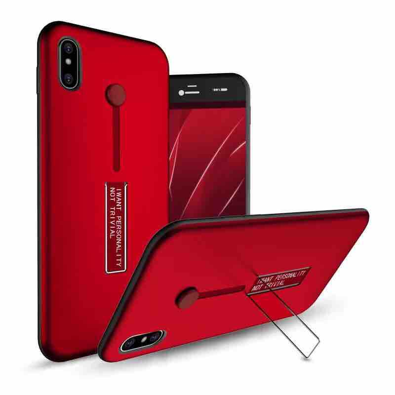 OPPO A3s armor back case with ring at stand