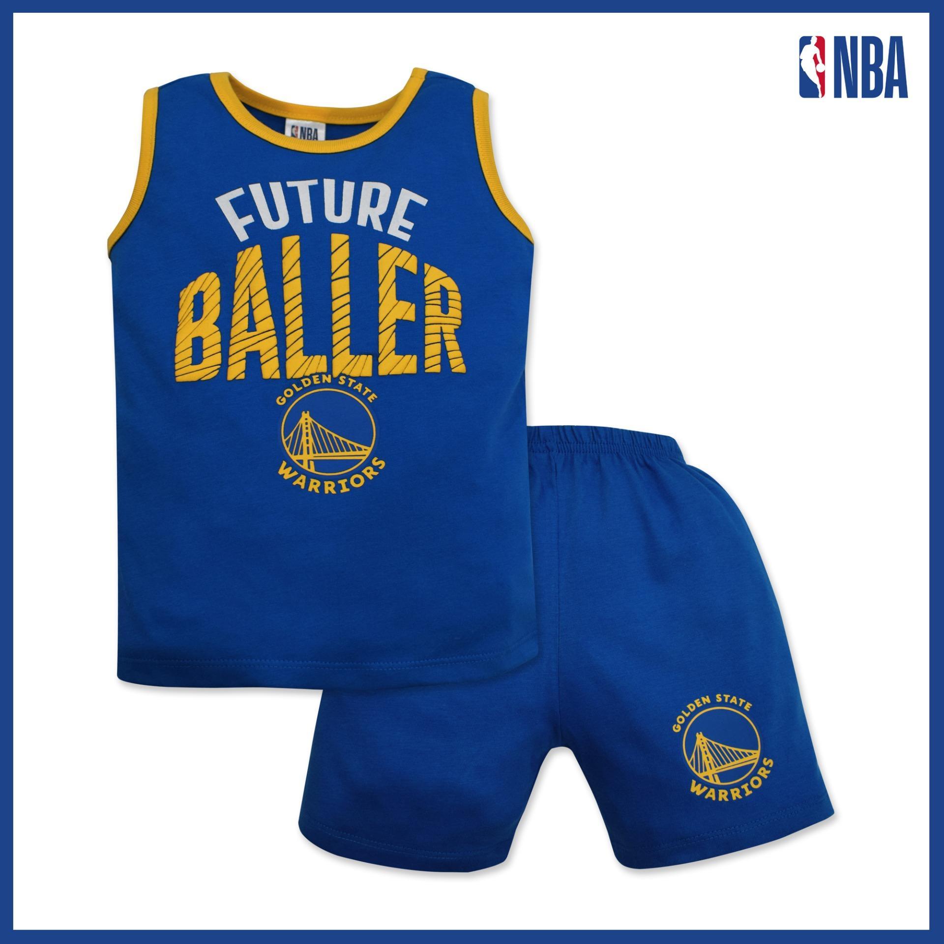 wholesale dealer 27668 bcff0 NBA Baby - Sando and Shorts Set (Future Baller - Warriors)