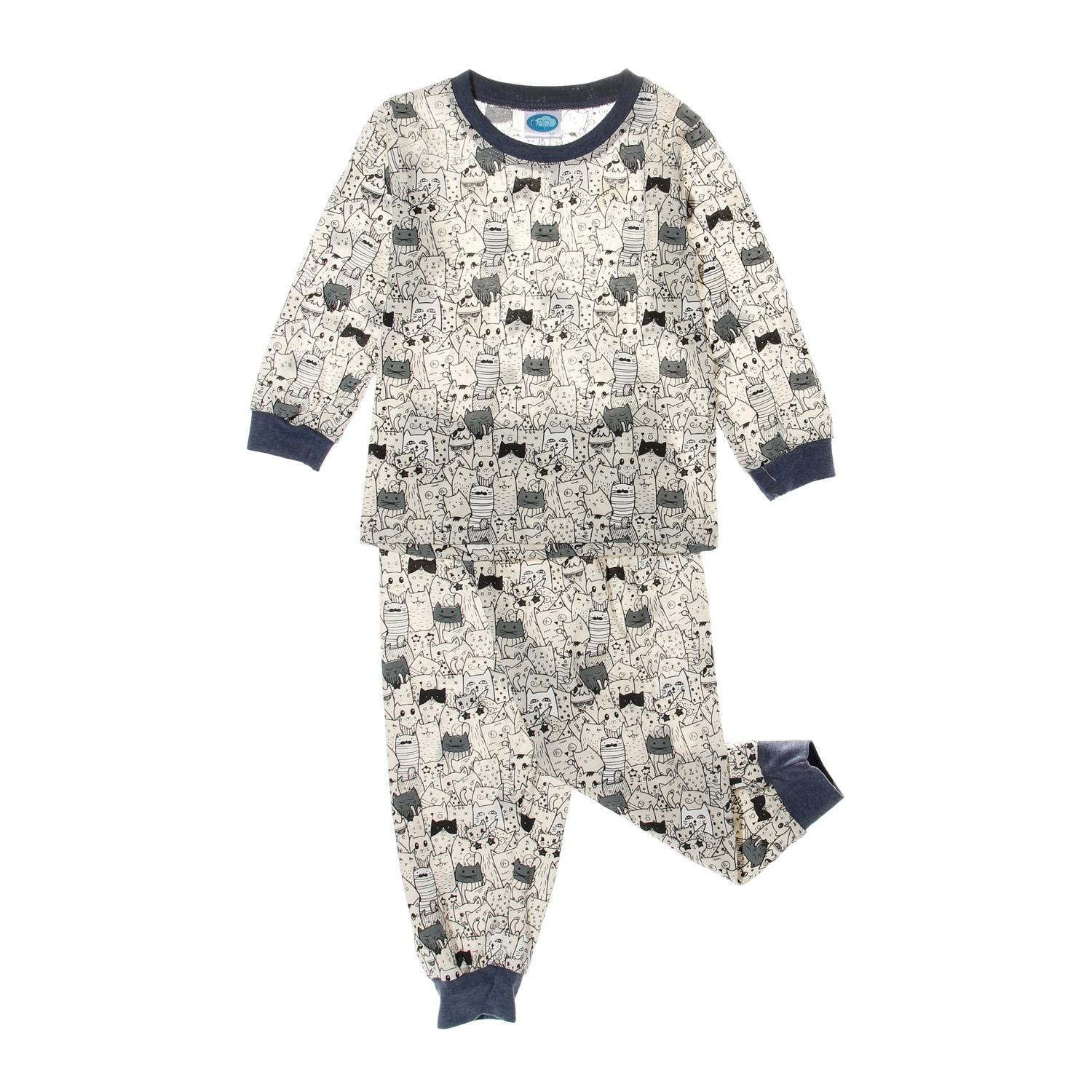Nap Toddler Boys Cat Pajama Set In Cream By The Sm Store.