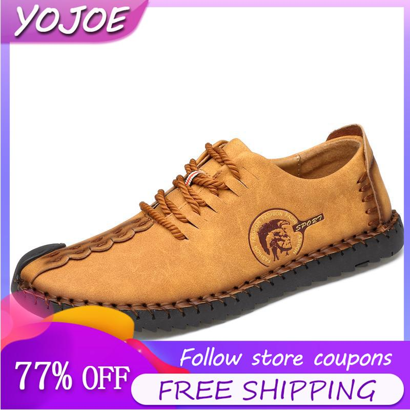 50fb911d78bd4 Leather Shoes for Men Leather Casual Shoes Leather Non-slip Breathable Flat  Shoes Soft Fashion Loafers