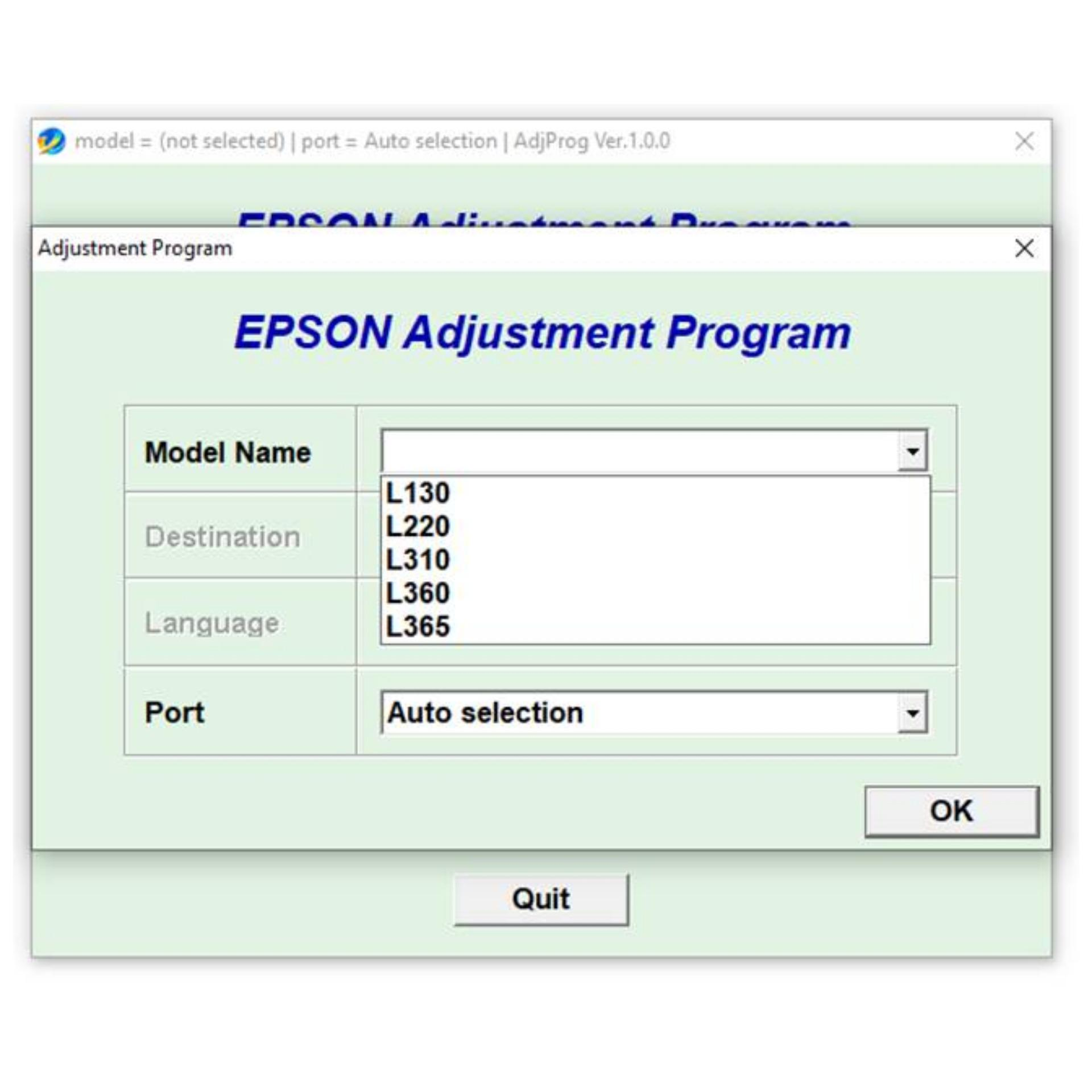 software reset printer epson l360