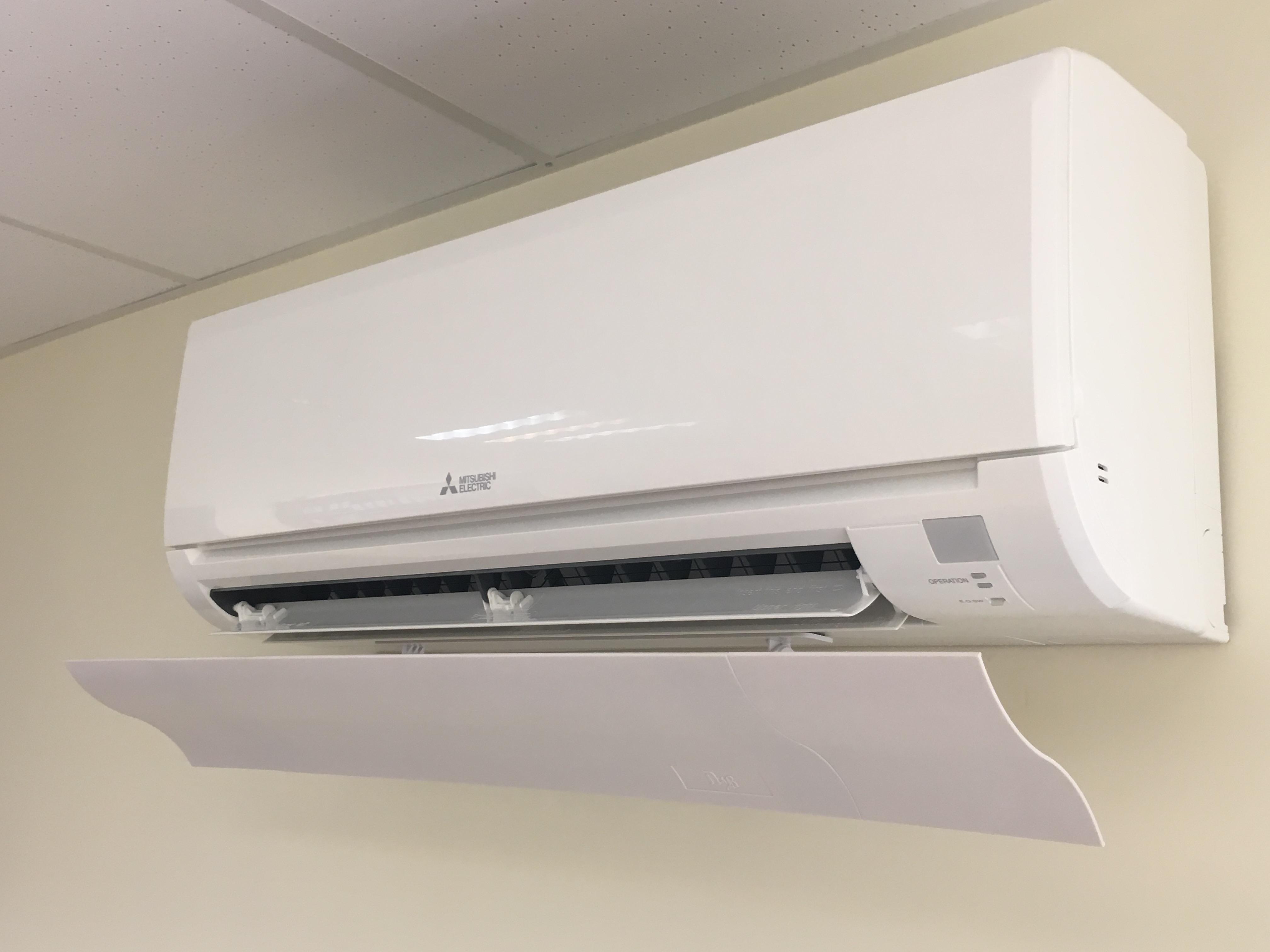 Wind Deflector / Blocker for split type A/C unit